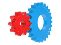 Red and blue gears Stock Image