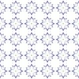 Red blue geometric seamless pattern. Hand drawn wa royalty free illustration
