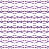 Red blue geometric seamless pattern. Hand drawn wa vector illustration