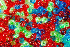 Red, blue and green beautiful beads Stock Photography