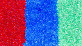 Red, blue and green beautiful beads Royalty Free Stock Photography