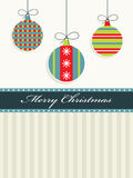 Red, blue and green christmas Stock Images