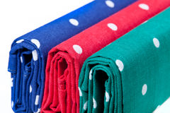 Red, blue and green handkerchiefs Stock Photography