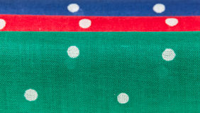 Red, blue and green handkerchiefs Royalty Free Stock Images