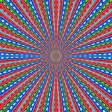 Red blue and green line drawing abstract Royalty Free Stock Image