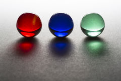 Red Blue Green Marbles Stock Image
