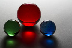 Red Blue Green Marbles Stock Images