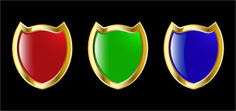 Red blue and green shield Royalty Free Stock Photography