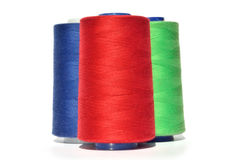 Red blue and green thread Royalty Free Stock Image