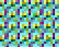Squares geometries colorful vivid bright abstract background stock illustration