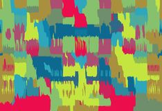 Red blue green yellow pink painting abstract Stock Photos
