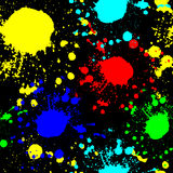 Red blue green yellow spots on a black background Graffiti seamless texture Stock Photography