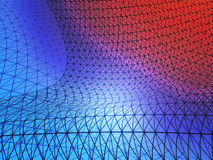 Red and blue grid net Stock Photography