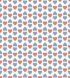Red and blue heart pattern background Royalty Free Stock Image