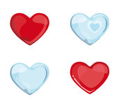 Red Blue Hearts Royalty Free Stock Image