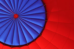 Red & Blue Hot Air Balloon. Blue and Red Picture of inside of Hot Air Balloon Royalty Free Stock Photos