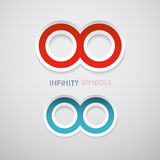 Red and Blue Infinity Symbols Royalty Free Stock Photo