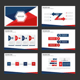 Red and blue infographic element and icon presentation templates flat design set for brochure flyer leaflet website Royalty Free Stock Image