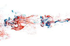 Red and blue ink Stock Photography