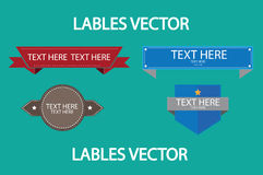 Red and Blue Lables Vector Stock Image