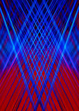 Red and blue light beams background Stock Photo
