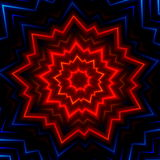 Red Blue Light Burst Flash. Hot Glowing Rays. Laser Show Effect. Made Many Stars. Shiny Xmas Sparkle. Fantasy Style Cover. Decor. Stock Image