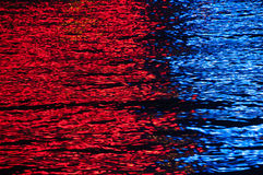 Red and blue light reflections. Royalty Free Stock Photography