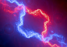 Red and blue lightning Royalty Free Stock Photos