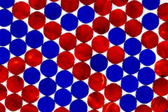 Red & Blue Marbles Stock Photo