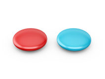 Red and Blue Medical Capsules Stock Images