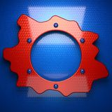 Red and blue metal background Stock Images