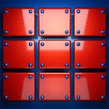 Red and blue metal background stock photo