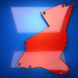 Red and blue metal background Stock Image