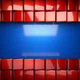 Red and blue metal background. 3D rendered Stock Photos