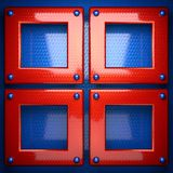 Red and blue metal background Stock Photography