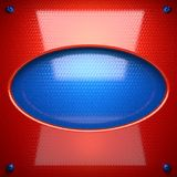 Red and blue metal background Royalty Free Stock Image