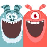 Red and blue monsters. Halloween vector illustration. Red and blue monsters. Halloween vector illustration royalty free illustration