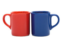 Red and blue mug Stock Photography