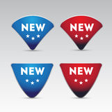 Red blue New button Royalty Free Stock Photography