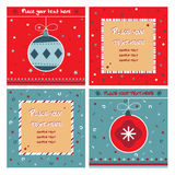Red and blue note cards Royalty Free Stock Photography