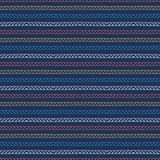 Red blue ocean regatta stripes seamless vector pattern. Hand drawn seaside rope lines. Aqua all over print for nautical textiles,. Maritime home decor. Yacht vector illustration