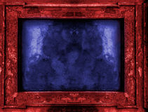 Red and blue old gothic frame Royalty Free Stock Photos