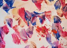 Abstract paint watercolor purple pink blue gold structure, abstract vivid background Royalty Free Stock Photo