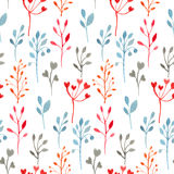 Red, blue, orange and gray heart branches background Stock Photo