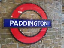 Paddington Station Sign, London Royalty Free Stock Photography
