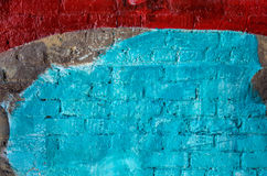 Red and Blue Painted Wall Royalty Free Stock Photos