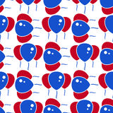 Red and Blue Party Balloon Pattern on White Background Royalty Free Stock Photos
