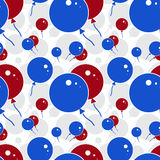 Red and Blue Party Balloon Pattern on White Background Royalty Free Stock Photo