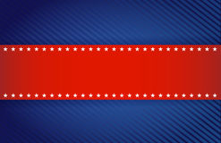 Red and blue patriotic illustration design Royalty Free Stock Image