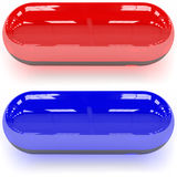 Red & Blue pills Stock Image